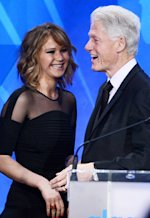 Jennifer Lawrence, Bill Clinton | Photo Credits: Kevin Winter/Getty Images