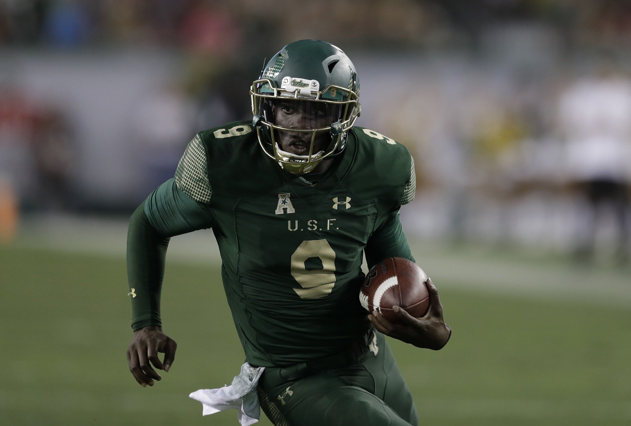 South Florida quarterback Quinton Flowers combined for 37 touchdowns this season. (AP Photo/Chris O'Meara)