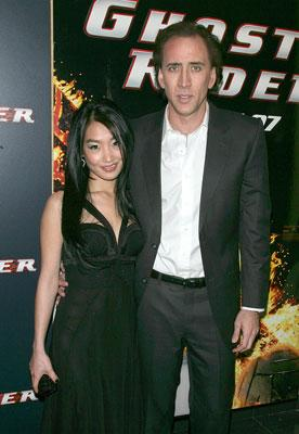 Alice Kim and Nicolas Cage at the New York premiere of Columbia Pictures' Ghost Rider