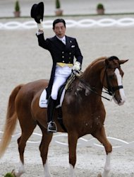 Japanese showjumper Hiroshi Hoketsu, 71, will be competing in his third Olympics. Hoketsu made his Olympic debut at the 1964 Tokyo Games before making a reappearance at Beijing where he finished 34th in the showjumping event