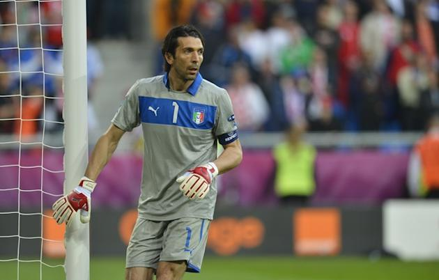 Italian Goalkeeper Gianluigi Buffon Looks AFP/Getty Images