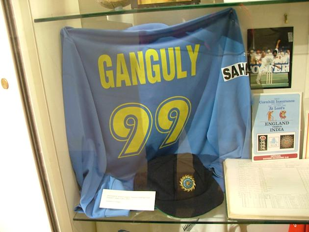 Sourav Ganguly's shirt from the 2002 Natwest Trophy final. Via MS Kadu/Wikimedia Commons