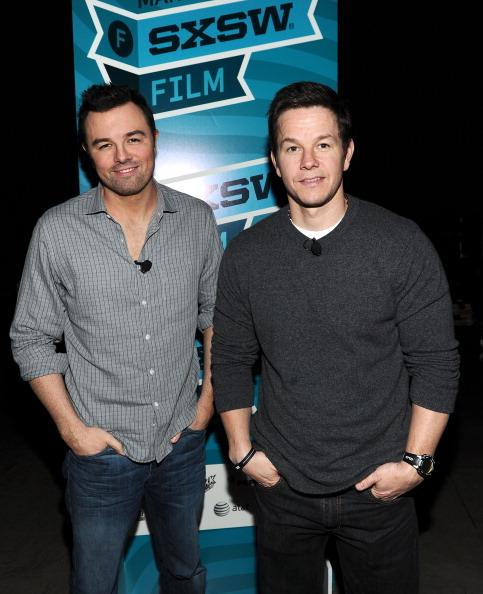 AUSTIN, TX - MARCH 11: Director Seth MacFarlane (L) and actor Mark Wahlberg attend 'A Conversation with Seth MacFarlane' Panel during the 2012 SXSW Music, Film   Interactive Festival at Austin Convention Center on March 11, 2012 in Austin, Texas.
