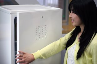 Japanese scientists have created a fridge that only opens when you smile. (Good Design Awards)