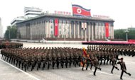 A military parade in Pyongyang in 2011. The North last month agreed to suspend nuclear and long-range missile tests and to allow the International Atomic Energy Agency (IAEA) to monitor a moratorium on uranium enrichment