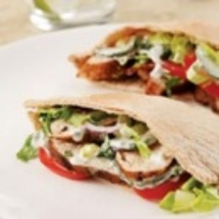 Indian-Spiced Chicken Pitas