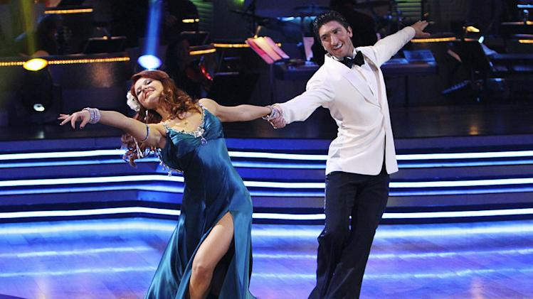 "Anna Trebunskaya and Evan Lysacek on ""Dancing with the Stars."""