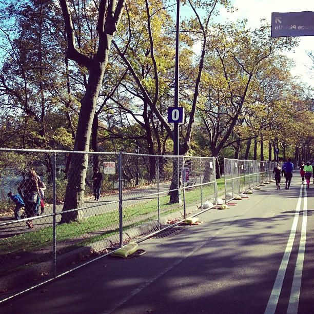 Where I was supposed to reunite w/ my family after the official #nycmarathon