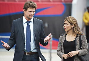 Marc Blucas, Callie Thorne | Photo Credits: Richard DuCree/USA Network