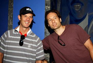 Premiere: Peter Berg and David Duchovny at the Los Angeles premiere of Universal's Two Brothers - 6/12/2004