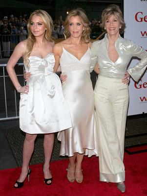 Lindsay Lohan , Felicity Huffman and Jane Fonda at the New York premiere of Universal Pictures' Georgia Rule