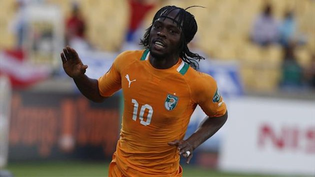 Ivory Coast's Gervinho celebrates his goal against Togo during their African Nations Cup (AFCON 2013) Group D match in Rustenburg
