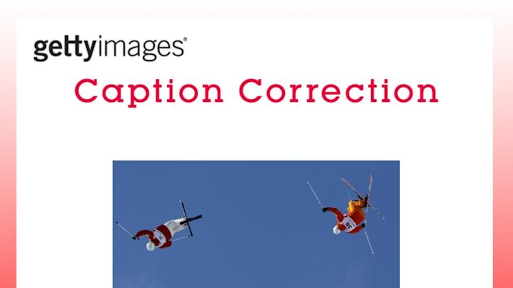 CAPTION CORRECTION: FIS Freestyle World Ski Championships 2013 - Men and Women's Dual Moguls