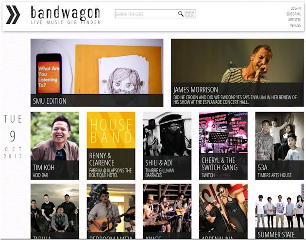 If you love live music, look no further than Bandwagon. (Screencap)