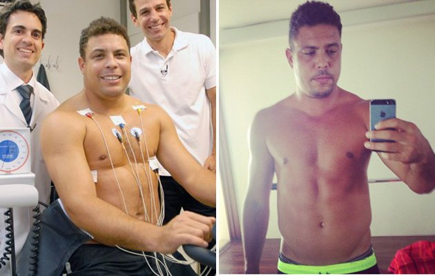 Ronaldo before the first episode (Disclosure / TV Globo via iG Gente) and how he looks now (Instagram)