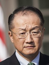 US candidate to run the Wold Bank, Jim Young Kim, is shown at the White House in March