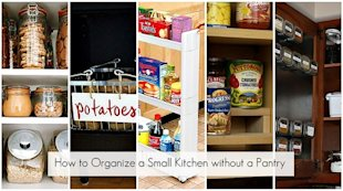 How to organize a small kitchen ...