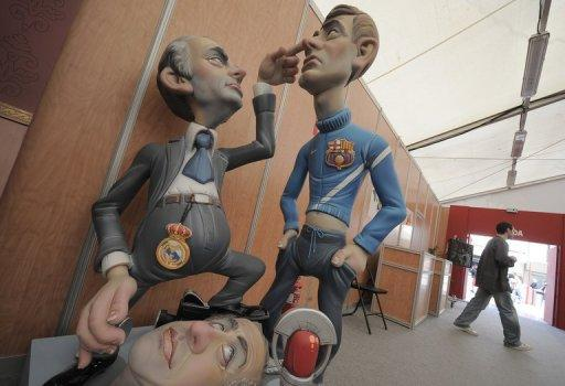 A giant model of the eye-poke incident, made in Valencia, Spain to be burned during a tradtional festival