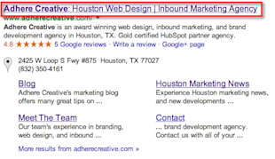 On Page SEO Marketing Strategy: Coming Up With The Best Page Title image adhere creative page title example