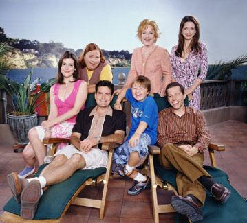 "Melanie Lynskey, Conchata Ferrell, Charlie Sheen, Angus T. Young, Holland Taylor, Jon Cryer and Marin Hinkle CBS' <a href=""/baselineshow/4746288"">""Two and a Half Men""</a>"