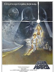 The iconic 1977 Star Wars poster.