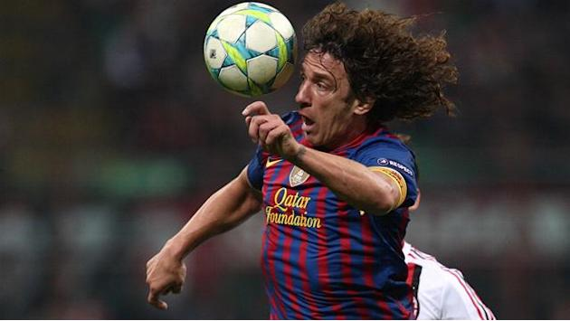 Puyol returns to Barcelona training