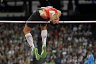 Germany's Reinhold Boetzel during the men's high jump F46 final at the Paralympics on September 8. Organisers have won plaudits for the efficient running of the Olympics and Paralympics, defying naysayers who predicted chaos