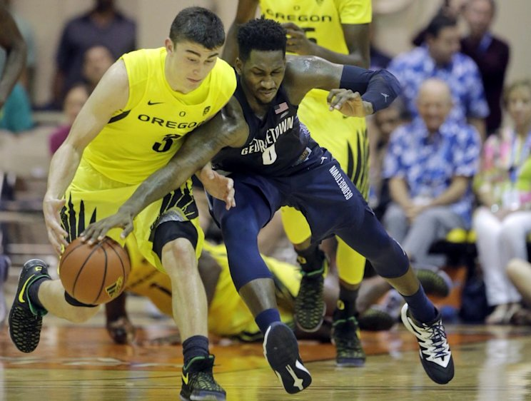 Georgetown survived Oregon's furious rally and handed the Ducks' their second loss (AP)