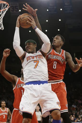 Anthony scores 41, Knicks win 11th straight