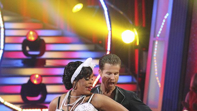 Niecy Nash and Louis Van Amstel perform a dance on the 10th season of Dancing with the Stars.