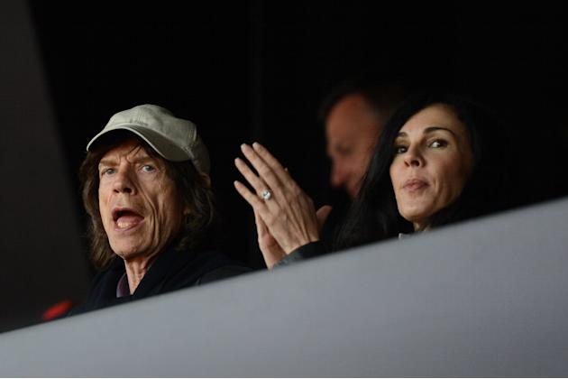 British musician Mick Jagger's and his p