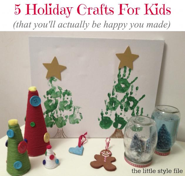 Make holiday crafts