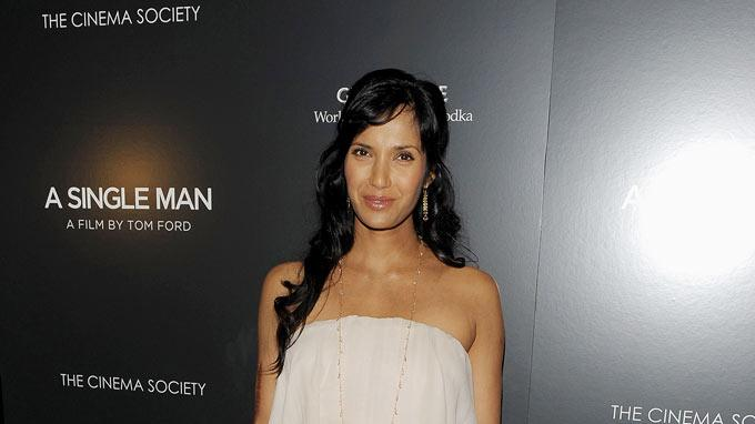 "Padma Lakshmi attends a special screening of ""A Single Man"" hosted by The Cinema Society and Bing at MOMA on December 6, 2009 in New York City."
