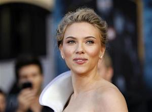 "Johansson poses at the premiere of the movie ""Iron Man 2"" at El Capitan theatre in Hollywood"