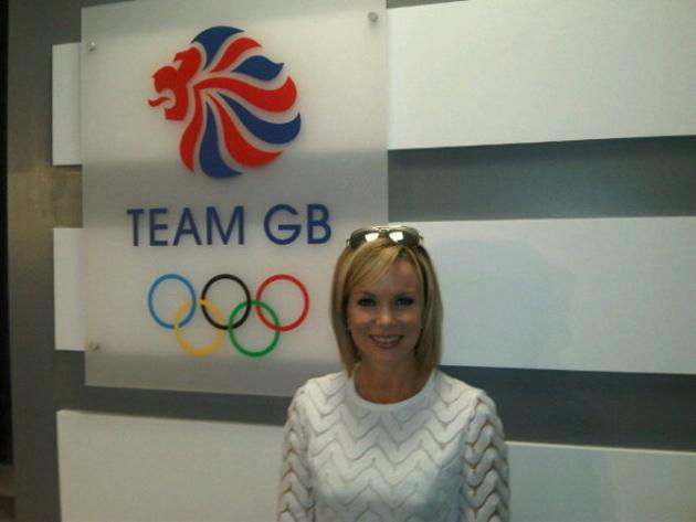"Celebrity photos: Amanda Holden was also at the Olympics Opening Ceremony. She tweeted this photo of herself next to a sign for Team GB, along with the caption: ""Go @TeamGB. So excited!! At Opening ce"