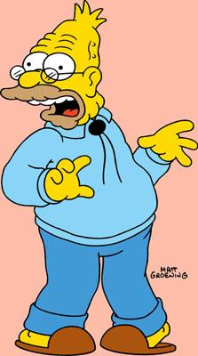Abraham 'Grandpa' Simpson (voiced by Dan Castellaneta) Fox's The Simpsons