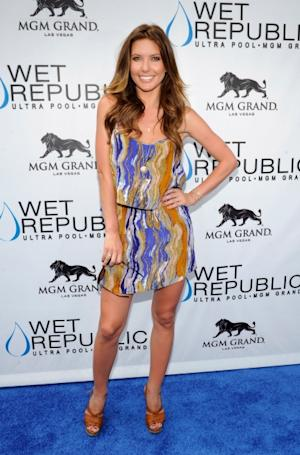 Audrina Patridge looks ready for summer at the Wet Republic pool at the MGM Grand Hotel/Casino in Las Vegas on May 12, 2012 -- Getty Premium