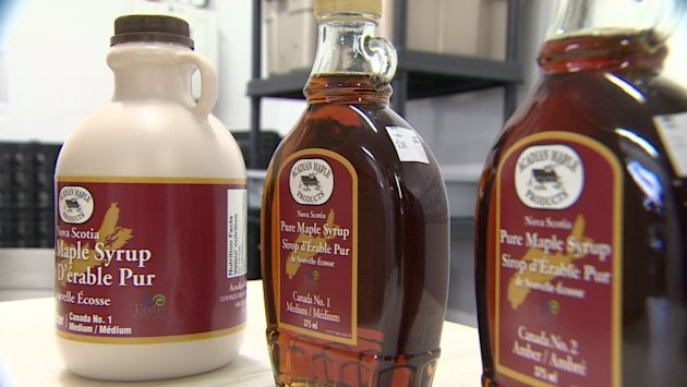 Maple syrup labels replacing numbers with descriptions