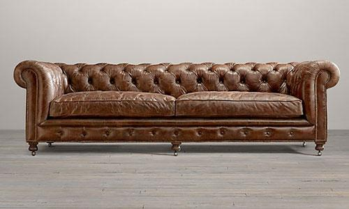 Kensington Leather Sofas, $2375