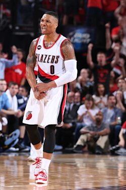 Damian Lillard signed a five-year, $120 million extension with the Trail Blazers. (NBAE/Getty Images)