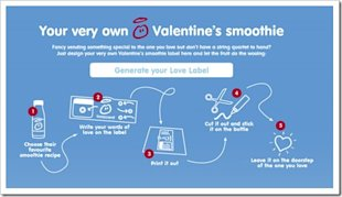 Top Five Valentine's Day Campaigns of 2012 and 2013 image Digital marketing Valentines Day Innocent Smoothies Ireland Label App3