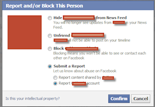 How To Report A Profile On Facebook image Facebook Report Profile 2