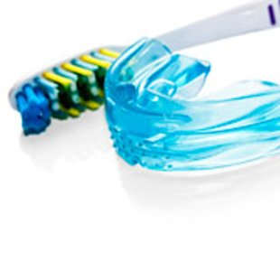 toothbrush and retainer