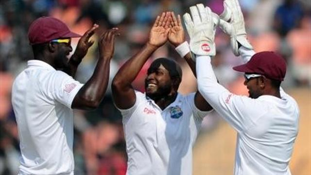 Cricket - Best sparks crushing 10-wicket win for Windies