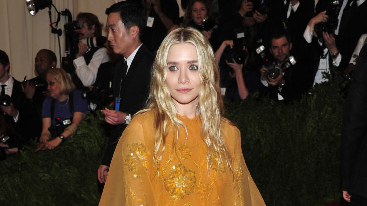 "Ashley Olsen attends The Metropolitan Museum of Art's Costume Institute benefit celebrating ""PUNK: Chaos to Couture"" on Monday, May 6, 2013, in New York. (Photo by Charles Sykes/Invision/AP)"