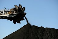 This photo taken on April 25, 2012 shows coal being stockpiled at the coal port of Newcastle in Australia's New South Wales state. Australian mining magnate Nathan Tinkler has pulled out of a Aus$5.3 billion (US$5.5 billion) takeover bid for Whitehaven Coal, the company said Friday
