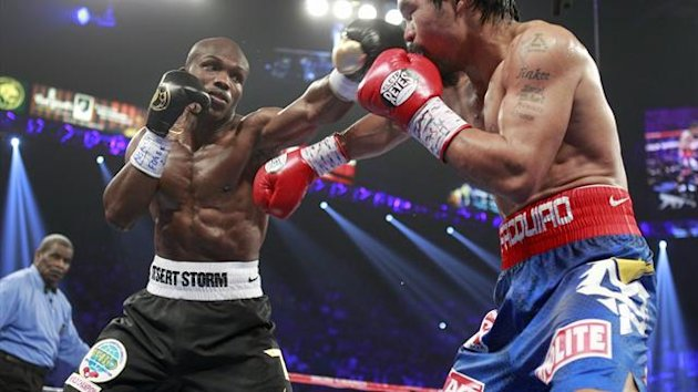 Timothy Bradley defeats Manny Pacquiao in June 2012 (Reuters)