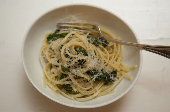 Linguine with Bread Crumbs and Kale