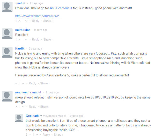 Comments on Nokia 130
