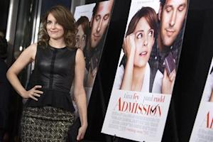 "Cast member Tina Fey poses at the premiere of ""Admission"" in New York"